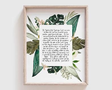 Christian Wall Art | Christian Gifts | The Spirit Of The Sovereign Lord | Isaiah 61:1-3