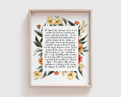 Christian Gifts | Christian Wall Art | Isaiah 61:1-3 | [theme] | [occasion]  | [colour] |