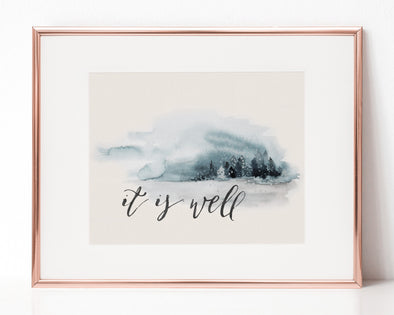 Christian Gifts | Christian Wall Art | It Is Well | [theme] | [occasion]  | [colour] |
