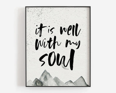 Christian Wall Art | Christian Gifts | It Is Well With My Soul