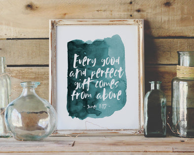 Christian Gifts | Christian Wall Art | James 1:17 | [theme] | [occasion]  | [colour] |