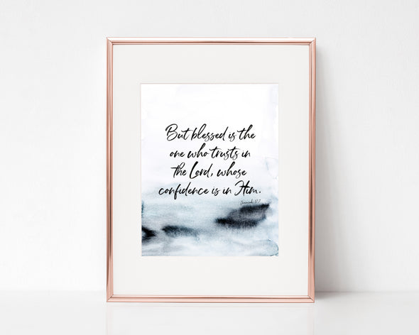 Christian Gifts | Christian Wall Art | Jeremiah 17:7 | [theme] | [occasion]  | [colour] |
