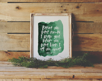 Christian Gifts | Christian Wall Art | Jeremiah 1:5 | [theme] | [occasion]  | [colour] |
