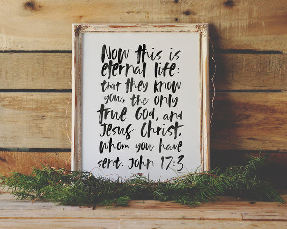 Christian Gifts | Christian Wall Art | John 17:3 | [theme] | [occasion]  | [colour] |