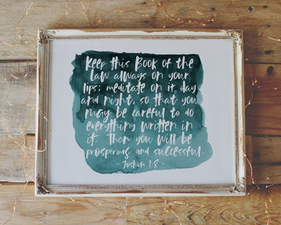 Christian Gifts | Christian Wall Art | Joshua 1:8 | [theme] | [occasion]  | [colour] |