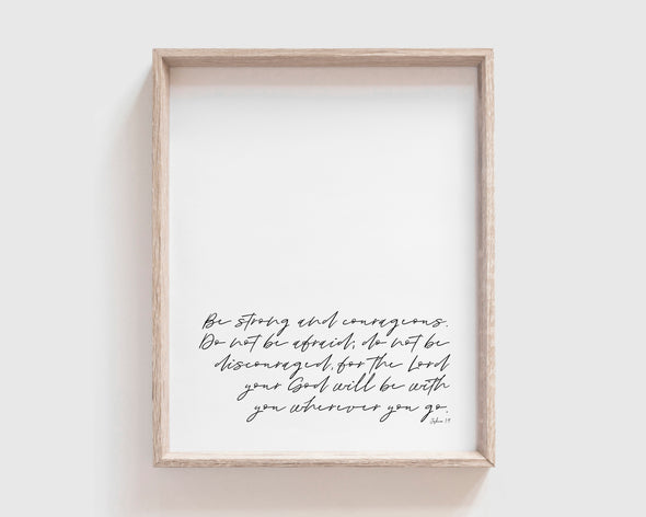 Christian Gifts | Christian Wall Art | Joshua 1:9 | [theme] | [occasion]  | [colour] |