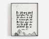 Christian Wall Art | Christian Gifts | Joshua 1:9 | Be strong and courageous | Grey