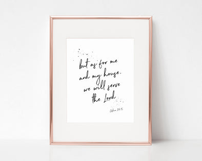 Christian Gifts | Christian Wall Art | Joshua 24:15 | [theme] | [occasion]  | [colour] |