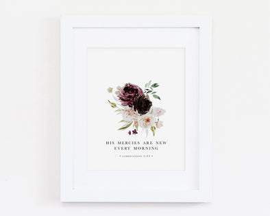 Christian Gifts | Christian Wall Art | Lamentations 3:23 | Wondrous Works