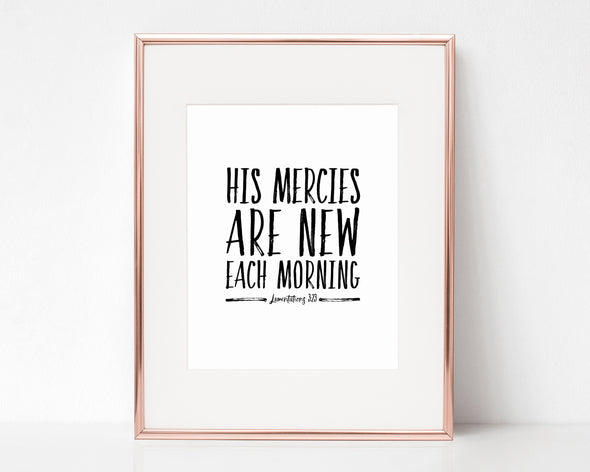 Christian Gifts | Christian Wall Art | Lamentations 3:23 | [theme] | [occasion]  | [colour] |