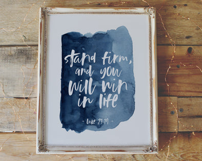 Christian Gifts | Christian Wall Art | Luke 21:19 | [theme] | [occasion]  | [colour] |