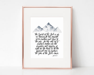 Christian Gifts | Christian Wall Art | Luke 4:18-19 Isaiah 61:1-2 | [theme] | [occasion]  | [colour] |