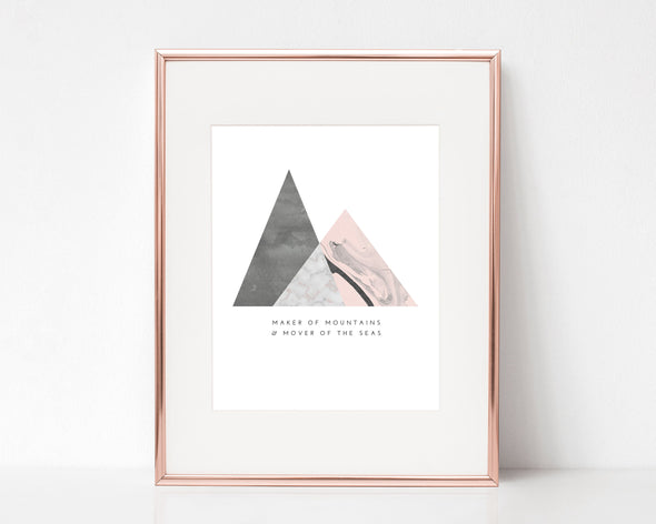 Christian Gifts | Christian Wall Art | Maker Of Mountains & Mover Of The Seas | [theme] | [occasion]  | [colour] |