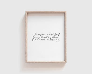 Christian Gifts | Christian Wall Art | Mark 10:9 | [theme] | [occasion]  | [colour] |