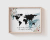 Mark 16:15 | World Map | Go into all the world and preach the gospel to all creation | Printable | Christian Wall Art | Scripture Print