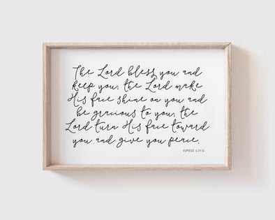 Christian Wall Art | Christian Gifts | Numbers 6:24-26 | May The Lord Bless You