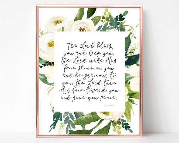 Christian Gifts | Christian Wall Art | Numbers 6:24-26 | [theme] | [occasion]  | [colour] |