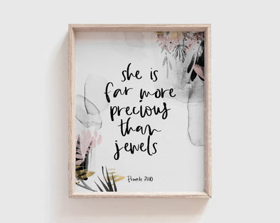 Christian Gifts | Christian Wall Art | Proverbs 31:10 | [theme] | [occasion]  | [colour] |