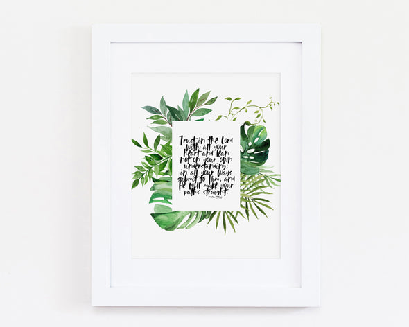 Christian Gifts | Christian Wall Art | Proverbs 3:5-6 | Wondrous Works