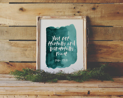 Psalm 139:14 | You are fearfully and wonderfully made | Christian Printables | Bible Verse Wall Art | Christian Gifts | Scripture Decor | Wondrous Works | Etsy | Christian Nursery | Dedication Gifts | For Boys | 4 x 6 | 5 x 7 | 8 x 10