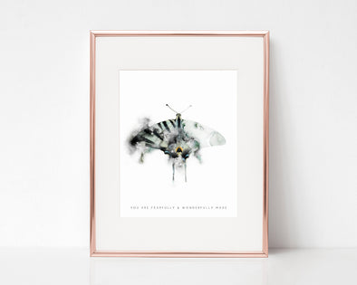Psalm 139:14 | You are fearfully and wonderfully made | Christian Printables | Bible Verse Wall Art | Christian Gifts | Scripture Decor | Wondrous Works | Etsy | Butterfly