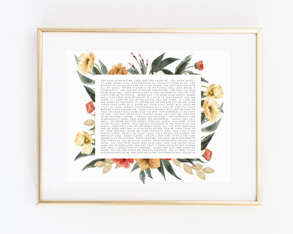 Christian Gifts | Christian Wall Art | Psalm 139 | [theme] | [occasion]  | [colour] |