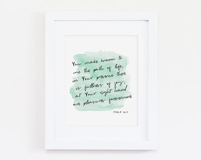 Christian Gifts | Christian Wall Art | Psalm 16:11 | [theme] | [occasion]  | [colour] |
