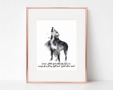 Christian Gifts | Christian Wall Art | Psalm 16:8 | [theme] | [occasion]  | [colour] |