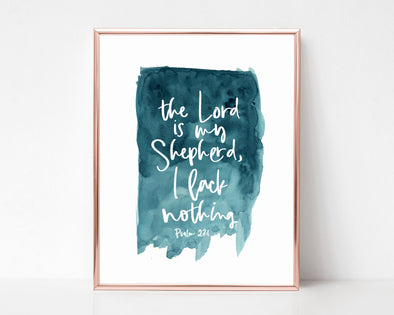 Christian Gifts | Christian Wall Art | Psalm 23:1 | [theme] | [occasion]  | [colour] |