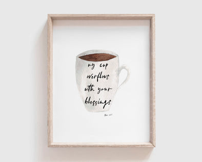 Christian Gifts | Christian Wall Art | Psalm 23:5 | [theme] | [occasion]  | [colour] |