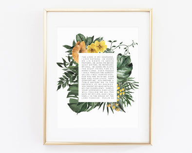 Christian Gifts | Christian Wall Art | Psalm 23 | [theme] | [occasion]  | [colour] |