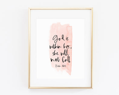 Christian Gifts | Christian Wall Art | Psalm 46:5 | [theme] | [occasion]  | [colour] |