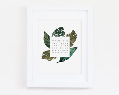 Christian Gifts | Christian Wall Art | Psalm 55:22 | [theme] | [occasion]  | [colour] |
