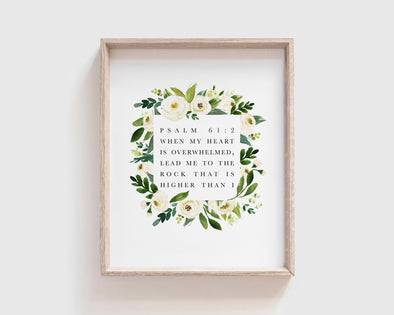 Christian Gifts | Christian Wall Art | Psalm 61:2 | [theme] | [occasion]  | [colour] |