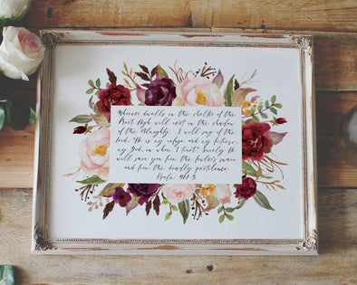 Christian Gifts | Christian Wall Art | Psalm 91:1-3 | [theme] | [occasion]  | [colour] |