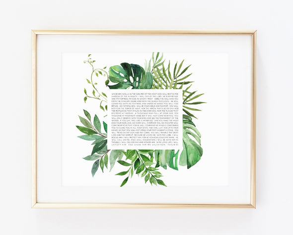 Christian Gifts | Christian Wall Art | Psalm 91 | [theme] | [occasion]  | [colour] |