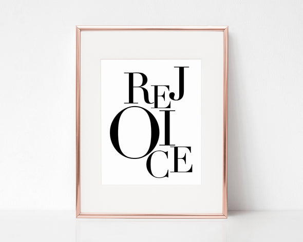 Christian Gifts | Christian Wall Art | Rejoice | Wondrous Works