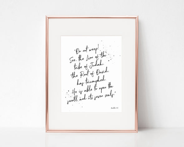 Christian Gifts | Christian Wall Art | Revelation 5:5 | [theme] | [occasion]  | [colour] |