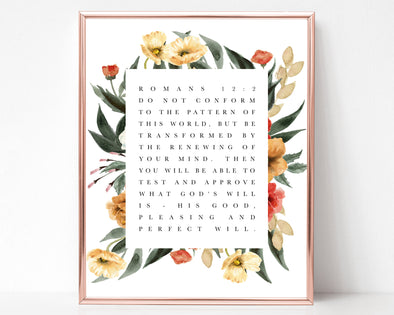 Christian Gifts | Christian Wall Art | Romans 12:2 | [theme] | [occasion]  | [colour] |
