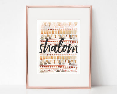 Shalom | Christian Printables | Bible Verse Wall Art | Christian Gifts | Scripture Decor | Wondrous Works | Etsy