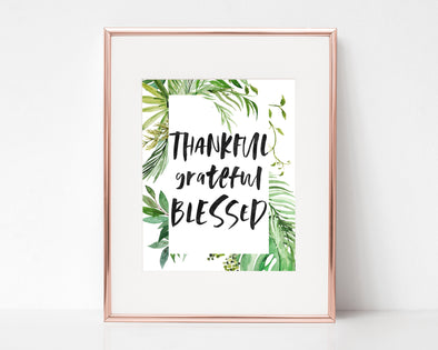 Christian Gifts | Christian Wall Art | Thankful Grateful Blessed | [theme] | [occasion]  | [colour] |
