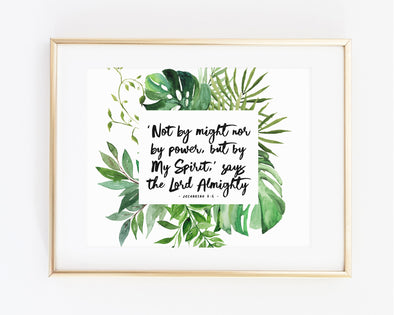 Christian Gifts | Christian Wall Art | Zechariah 4:6 | [theme] | [occasion]  | [colour] |