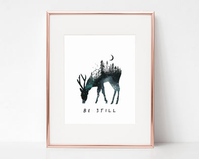 Be Still | Christian Printables | Bible Verse Wall Art | Christian Gifts | Scripture Decor | Wondrous Works | Etsy