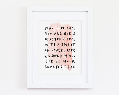 Christian Gifts | Christian Wall Art | Beautiful One | [theme] | [occasion]  | [colour] |
