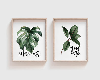 Come As You Are | Christian Printables | Bible Verse Wall Art | Christian Gifts | Scripture Decor | Wondrous Works | Etsy | Leaf Green | Set
