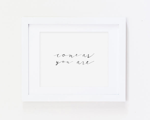 Christian Gifts | Christian Wall Art | Come As You Are | [theme] | [occasion]  | [colour] |