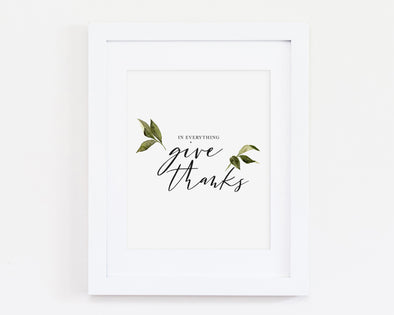 Christian Gifts | Christian Wall Art | 1 Thessalonians 5:18.  In everything, give thanks | [theme] | [occasion]  | [colour] |