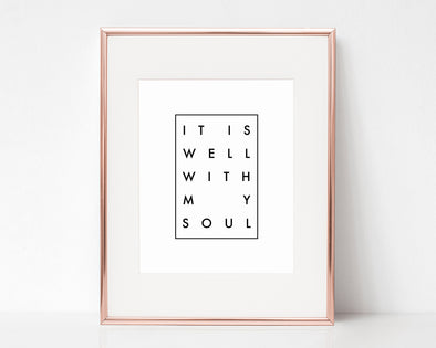 Christian Gifts | Christian Wall Art | It Is Well With My Soul | [theme] | [occasion]  | [colour] |