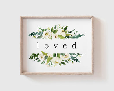 Christian Gifts | Christian Wall Art | Loved | [theme] | [occasion]  | [colour] |