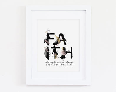 Christian Gifts | Christian Wall Art | Hebrews 11:1.  Now Faith | [theme] | [occasion]  | [colour] |